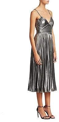 Marchesa Women's Metallic Midi Dress