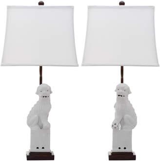 Safavieh Set Of 2 28In Foo Dog Table Lamps