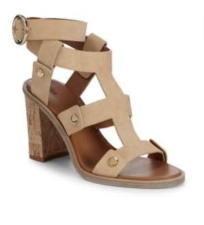 Frye Nina Rivet Leather Ankle-Strap Sandals