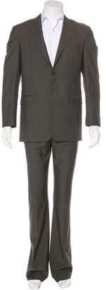 Saint Laurent Herringbone Wool Suit w/ Tags