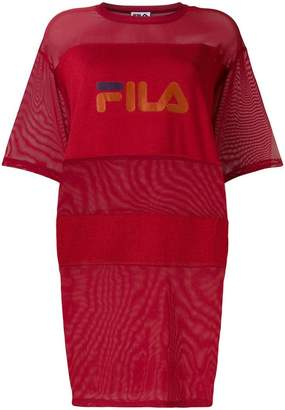 Fila sheer panels oversized T-shirt