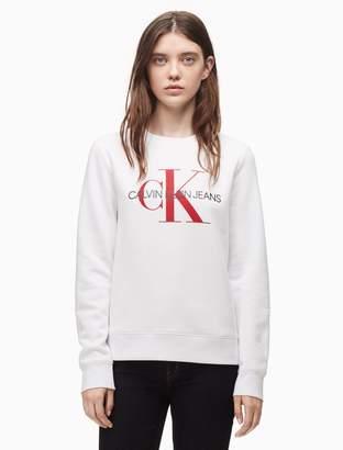 Calvin Klein monogram logo crewneck sweatshirt
