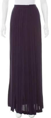Oscar de la Renta Pleated Maxi Skirt