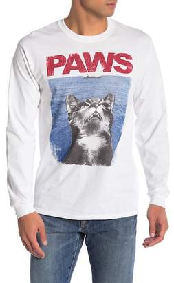 """Riot Society \""""Paws\"""" Cat & Mouse Graphic Long Sleeve Tee"""