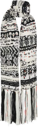 Missoni Fringed Intarsia-Knit Scarf