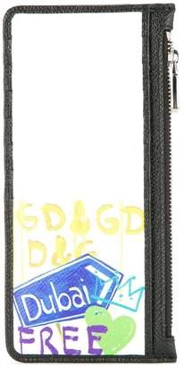 Dolce & Gabbana graffiti print long cardholder