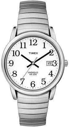 Timex Easy Reader Mens Stainless Steel Expansion Watch T2H451