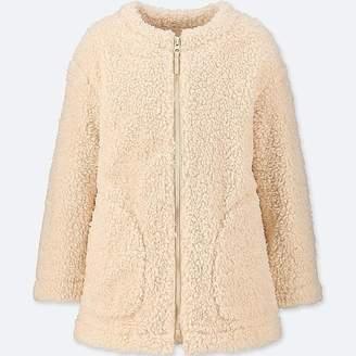 Uniqlo Girl's Windproof Fleece Collarless Coat