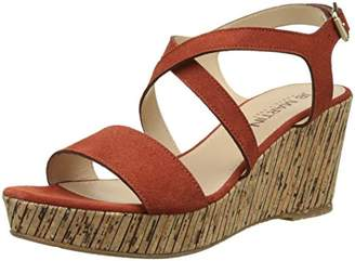 JB Martin Women's Dayane Platform Sandals, Orange (Ch Vel T Liege Baya Multi Tosca), 40 40 EU