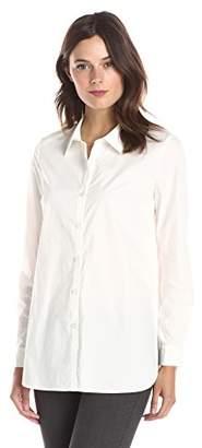Lark & Ro Women's Long Sleeve Poplin Tunic Shirt
