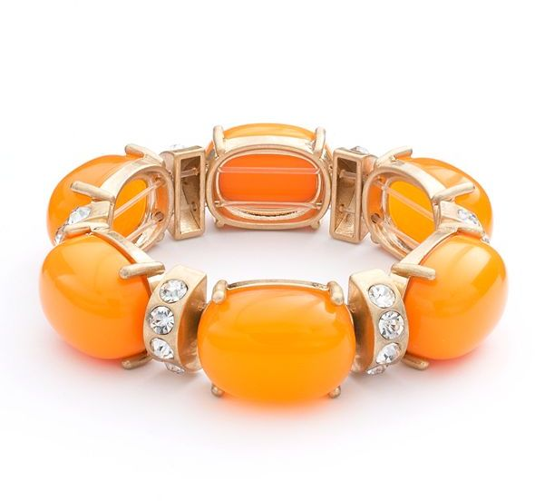 Apt. 9 cabochon and simulated crystal stretch bracelet
