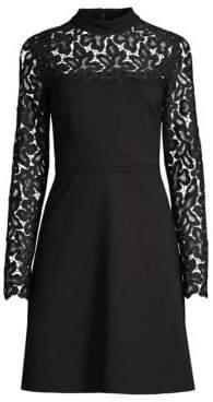 Elie Tahari Jenessa Lace-Trimmed Dress