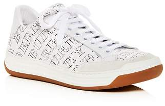 Burberry Women's Timsbury Perforated Leather lace Up Sneakers