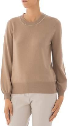 Peserico Virgin Wool, Silk & Cashmere Crewneck Sweater