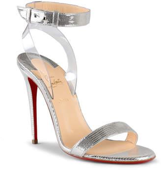 Christian Louboutin Jonatina 100 silver leather sandals