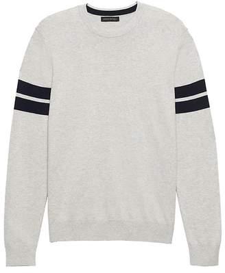 Banana Republic Silk Cotton Cashmere Varsity Sweater