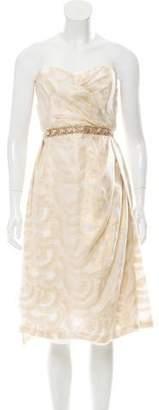 Peter Som Embellished Metallic Dress