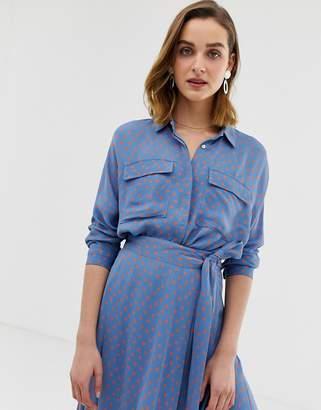 Whistles Selma spot print blouse