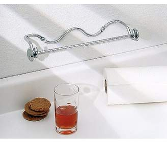 InterDesign Paper Towel Holder, Awavio Wall Mount for Kitchen, Chrome