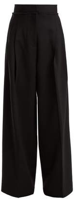 J.W.Anderson High Rise Wide Leg Trousers - Womens - Black