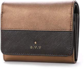 a.v.v (アー ヴェ ヴェ) - アー ヴェ ヴェ a.v.v 中ファスナー二つ折財布 (ダークブラウン)