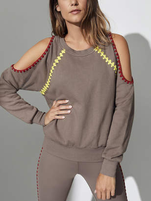 Carbon38 Crochet Cold Shoulder Sweatshirt