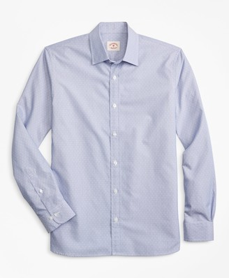 Brooks Brothers Striped Nine-to-Nine Cotton Dobby Shirt