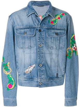 Versace Beverly Palm denim jacket