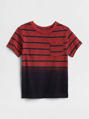 Gap Stripe Dip-Dye T-Shirt