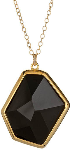 Lola James Out of this World Black Crystal Pendant Necklace
