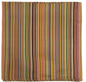 Paul Smith Signature Stripe Silk Pocket Square - Mens - Multi