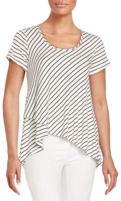 Striped Wrap Trapeze Tee $48 thestylecure.com