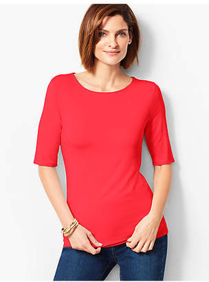 Talbots Refined Elbow-Length Sleeve Tee