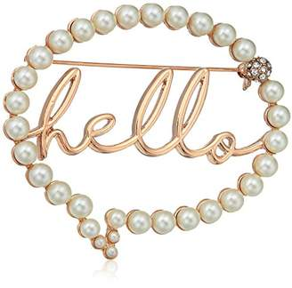 "Betsey Johnson Women's ""Hello"" Bubble Brooches and Pin"