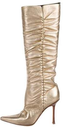 Jimmy Choo Leather Knee-High Boots