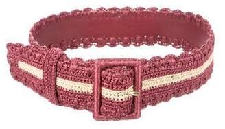 Dolce & Gabbana Raffia Buckle Belt