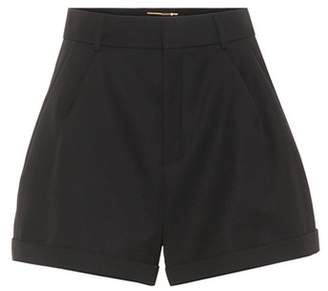 Saint Laurent High-waisted wool shorts