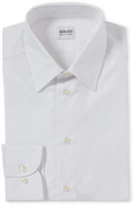 Armani Collezioni White Slim Fit Dress Shirt