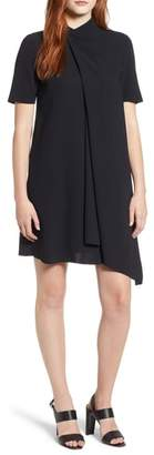 Anne Klein Asymmetrical Draped Shift Dress