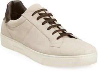 Ermenegildo Zegna Vulcanizzato Suede Low-Top Sneaker
