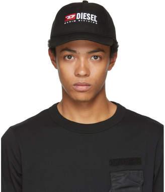 Diesel Black Denim Division Baseball Cap