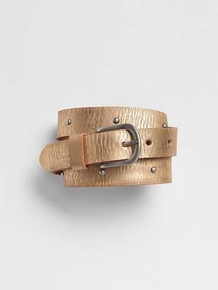Gap Metallic Leather Belt
