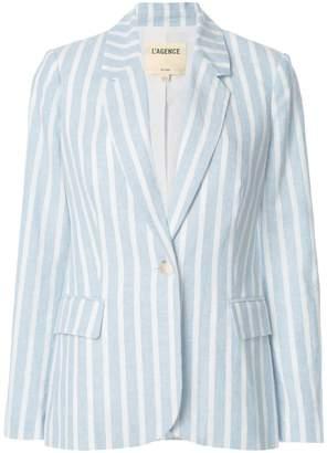 L'Agence two tone striped blazer