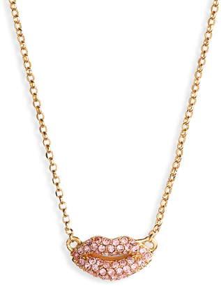 Kate Spade Pave Lip Pendant Necklace