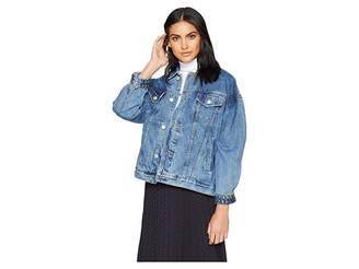 Blank NYC Denim Trucker Jacket in Rebel Without A Cause