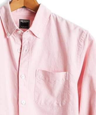 Todd Snyder Japanese Selvedge Oxford Button Down Shirt in Pink