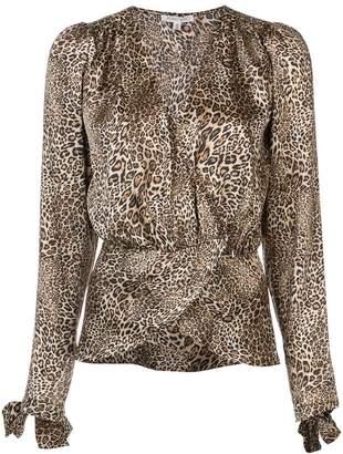 Ronny Kobo leopard print blouse