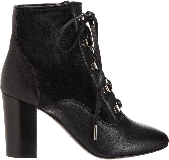 Lanvin Combo Lace-Up Ankle Boot