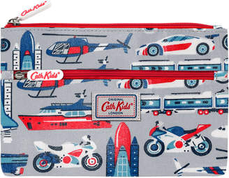 Cath Kidston Things That Go Fast Kids Double Zip Pencil Case