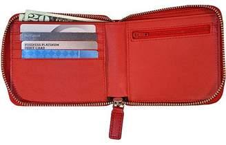 Royce Leather RFID Blocking Zip Around Wallet in Saffiano Leather